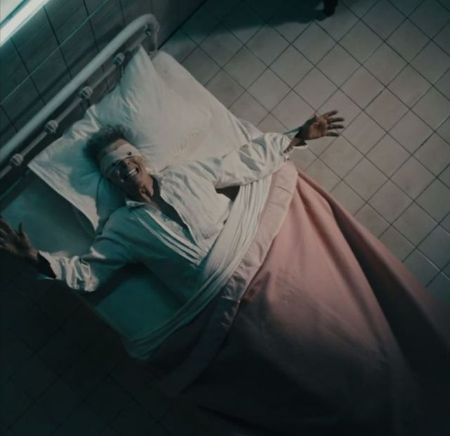 In hospital bed