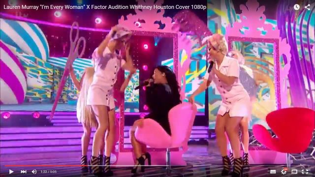 Laura X Factor UK 311015 Swan chairs 2