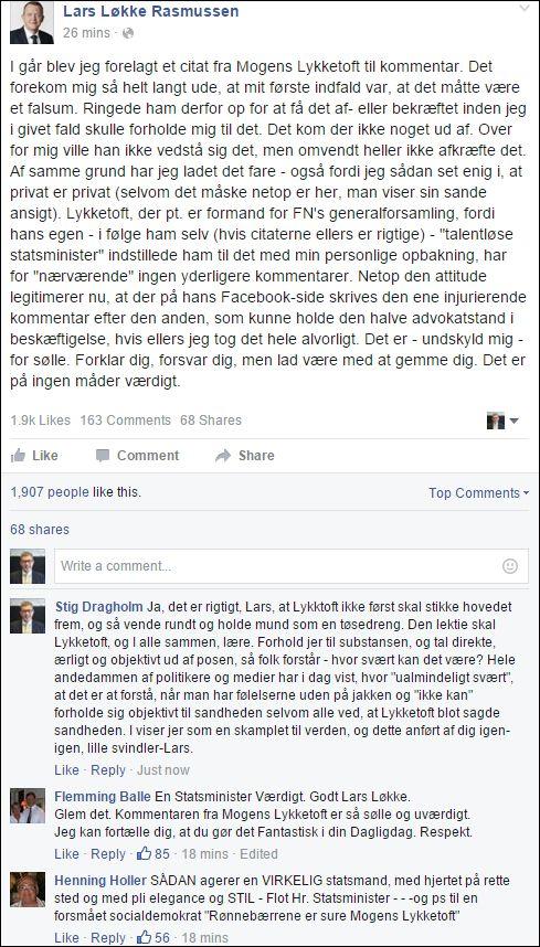 FB 260116 Lars Løkkelig