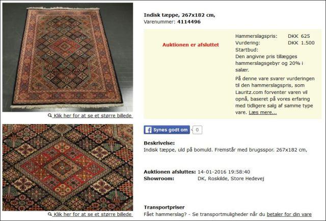 Tæppe Lauritz 140116