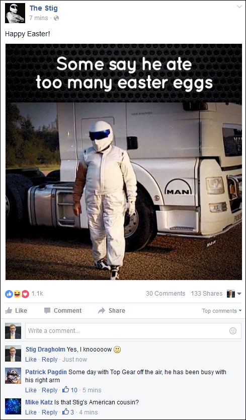 FB 270316 The Stig