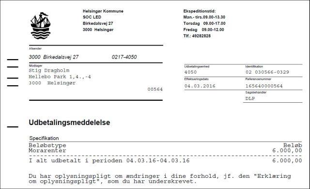 Udbetaling kommune 050316