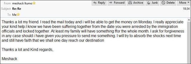Email fra Meshack 140516