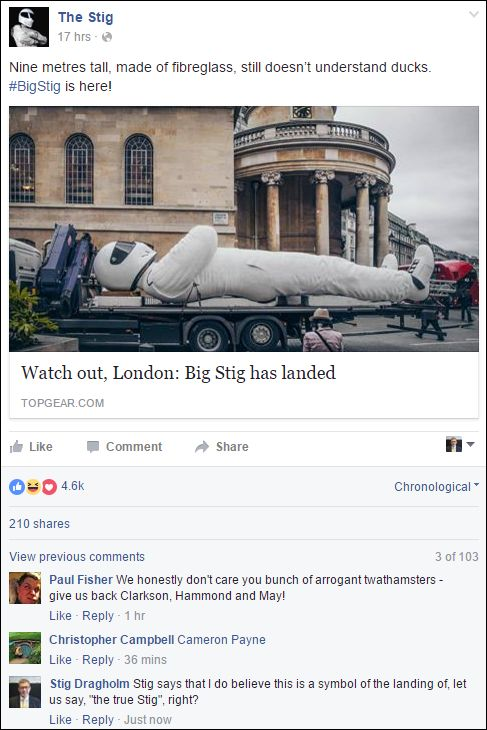FB 180516 the Stig