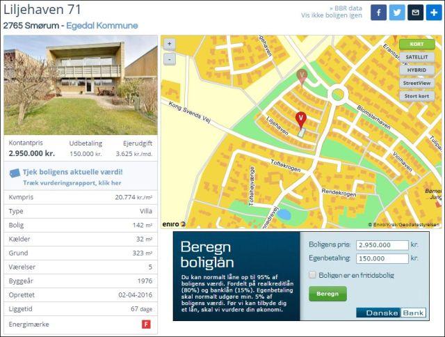 Liljehaven for sale